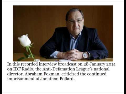 Abe Foxman interviewed about Jonathan Pollard on IDF Radio 28 January 2014