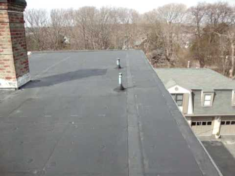 Flat Roofing Epdm Rubber Roof Replacement Youtube
