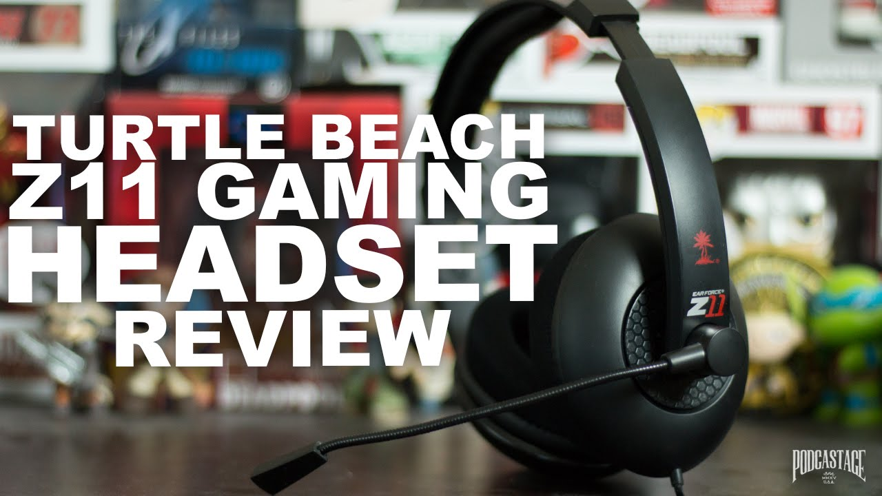 super popular b0a1f f7750 Turtle Beach Ear Force Z11 Gaming Headset Review   Test - YouTube