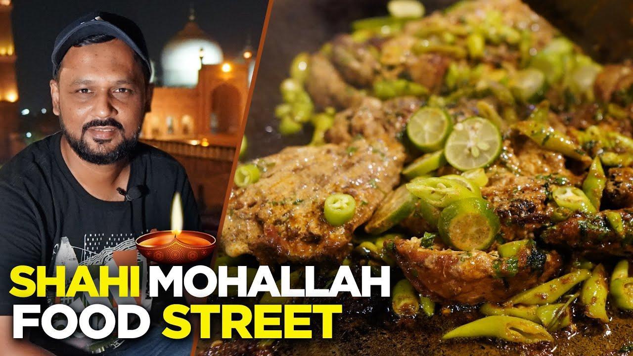 Lahore Food Street | Coocos Den | Tawa Karhai, Mutton Kabab | Shahi Mohallah, Taxali Gate | Pakistan