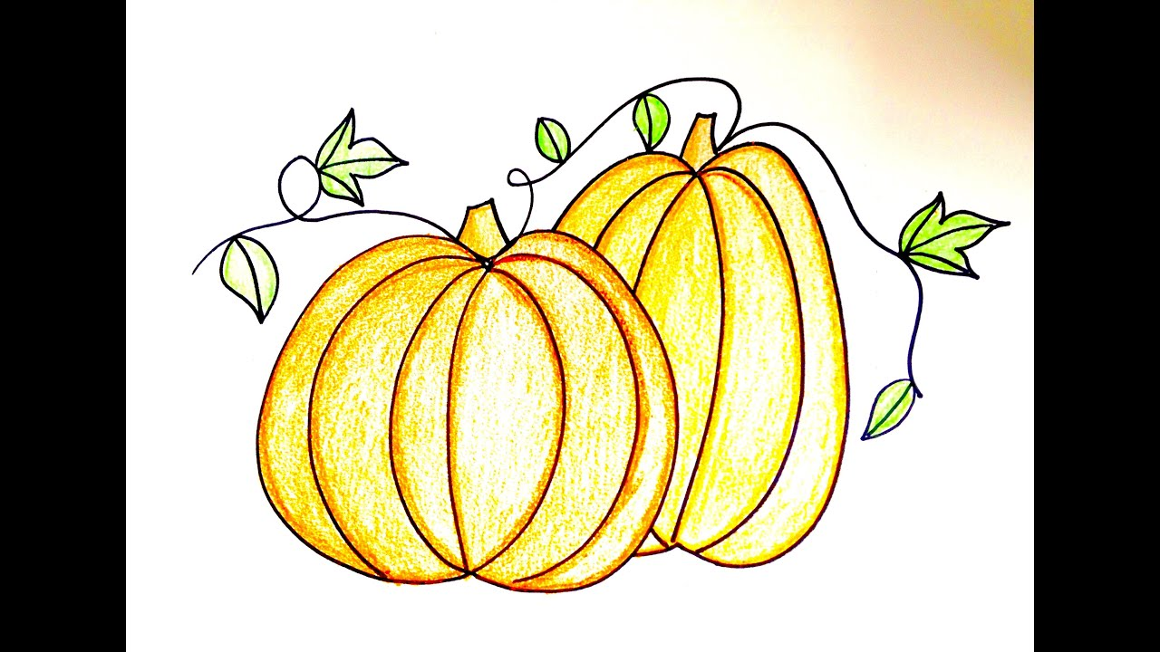Uncategorized Drawing Pumpkins drawing lesson how to draw pumpkins youtube pumpkins