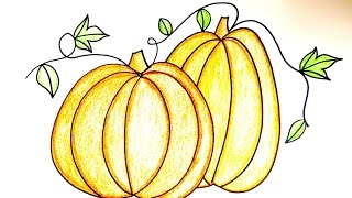 Drawing Lesson: How to Draw Pumpkins