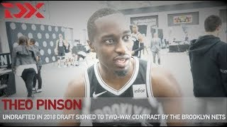 The Pro Perspective: Theo Pinson's 2018 Media Day With The Brooklyn Nets