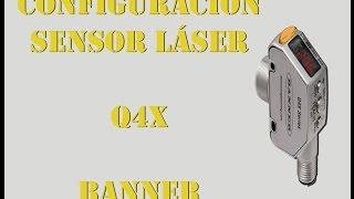 programando sensor de lser q4x banner fgs