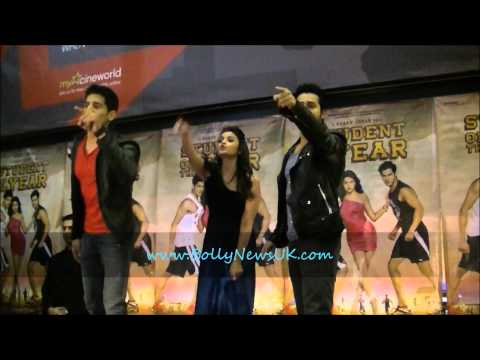 Karan Johar, Varun Dhawan, Sidharth Malhotra & Alia Bhatt at Cineworld (London) Student Of The Year Mp3