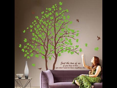 Интерьерная наклейка на стену  Дерево двойное