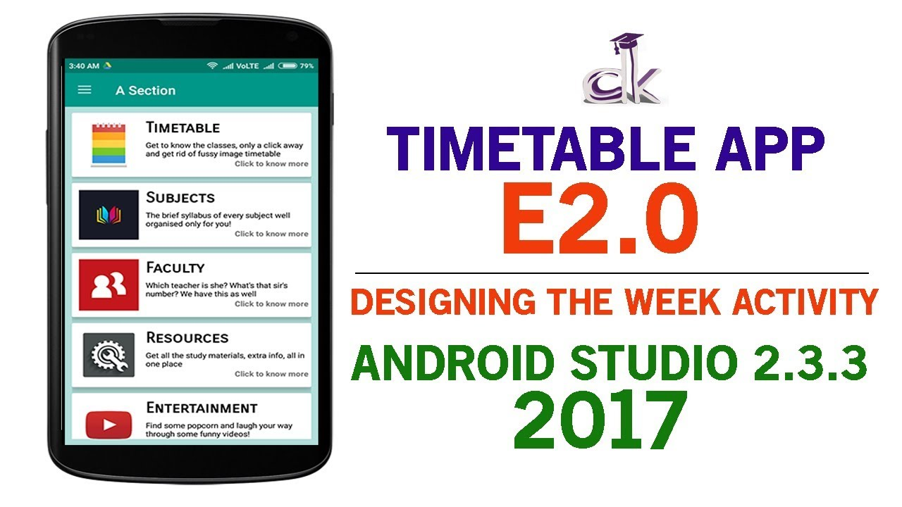 Timetable app tutorial e20 designing the timetableweek timetable app tutorial e20 designing the timetableweek activity android studio 233 sciox Choice Image