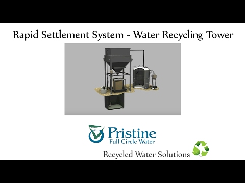 Rapid Settlement System -Water Slurry Recycling Tower Solution By Full Circle Water - Pristine