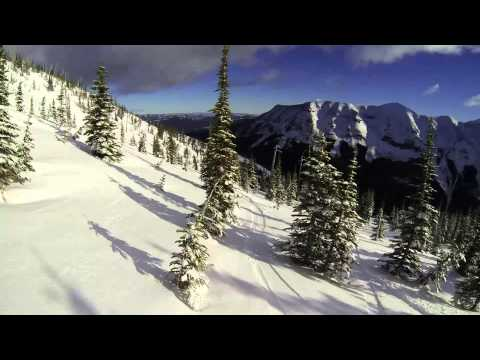 Snowboarding at Castle Mountain, Jan 24/15