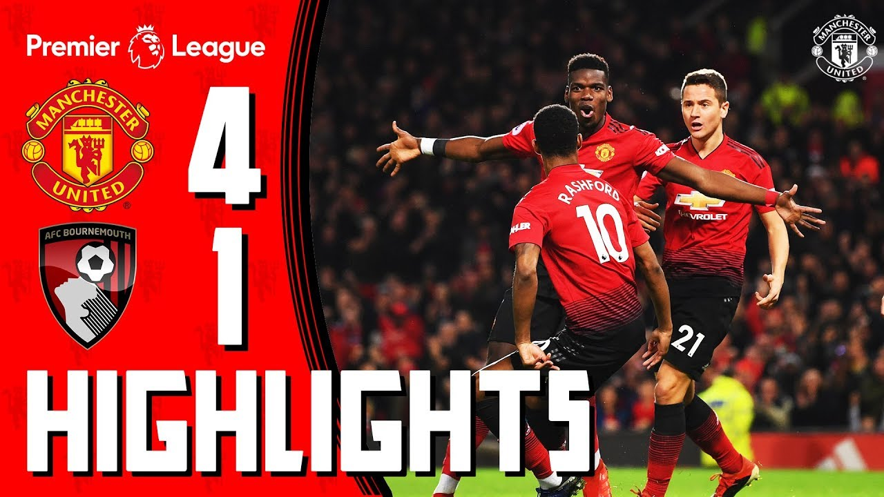 Highlights | Manchester United 4-1 Bournemouth | Premier League