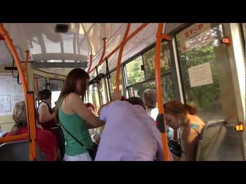 Ride on a local bus in Chisinau, Moldova
