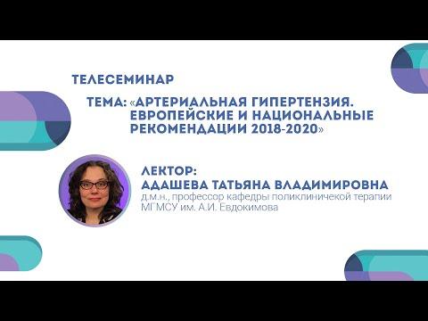 Артериальная гипертензия.Европейские и национальные рекомендации 2018-2020. Татьяна Адашева