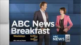 ABC News 24 - ABC News Breakfast promo [Virginia Trioli returns] (March 2013)