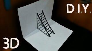 D.I.Y 3D Merdiven - Merdiven Nasıl Çizilir? ANLATIMLI