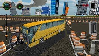 Direksiyonlu Otobüs Park Etme Oyunu // 3D Bus Driving Academy Game 2017 Android Gameplay FHD screenshot 2