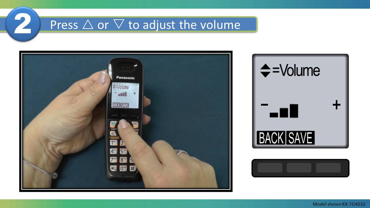 2013 models how to adjust the handset ringer volume on a panasonic rh youtube com Panasonic Answering Machine Setup Code for Panasonic Answering Machine