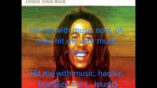 Bob Marley Trenchtown Rock Lyrics on Screen