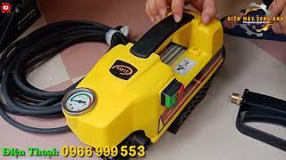 MÁY RỬA XE GIA ĐÌNH HANYE 1800W - Máy rửa xe mini dây đồng giá rẻ cho gia đình