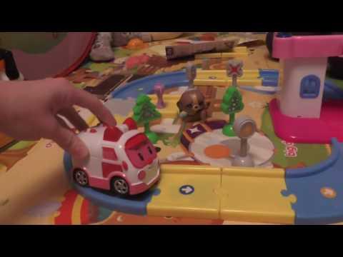 Собираем игрушечную дорогу Робокар Поли. Недостатки игрушки. // ROBOCAR POLY. Play Toy.