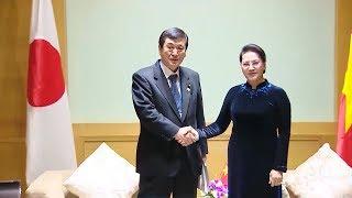 Chủ tịch Quốc hội tiếp Đoàn Nghị sỹ Nhật Bản và Đoàn Quốc hội Lào