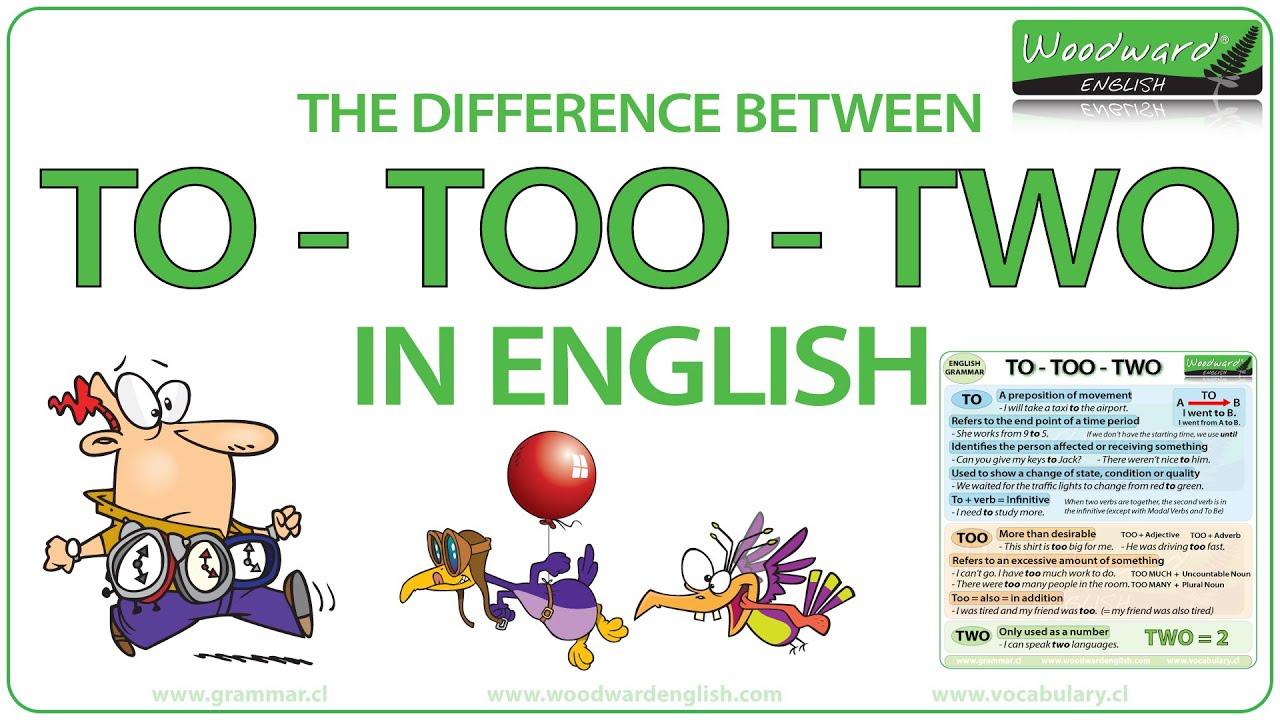 to vs too vs two   english grammar lesson   youtube