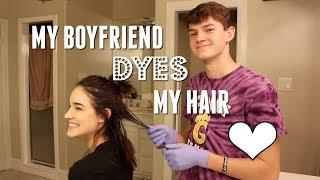 MY BOYFRIEND DYES MY HAIR! (+ announcement in bio)