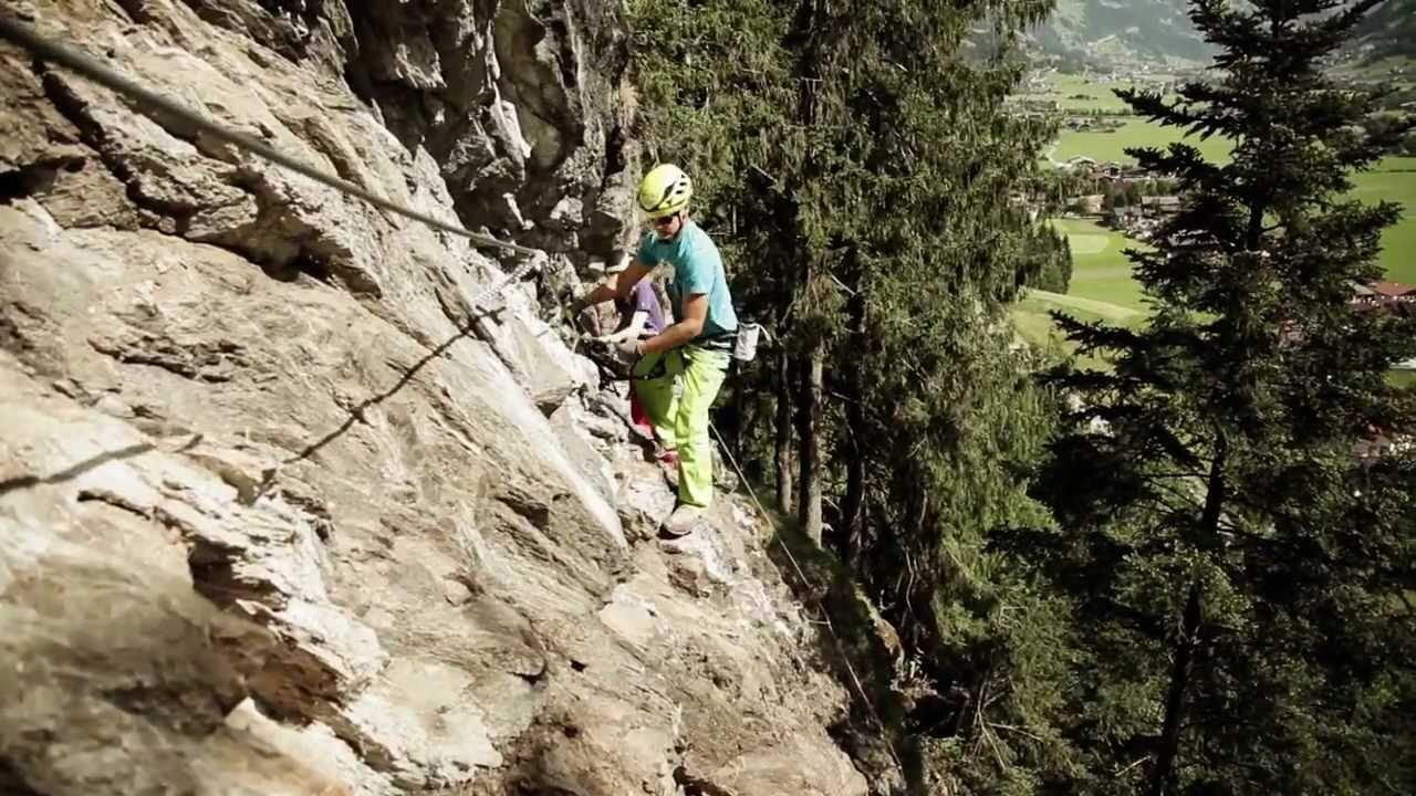 Klettersteig Mayrhofen : Pfeilspitzwand klettersteig mayrhofen hippach youtube
