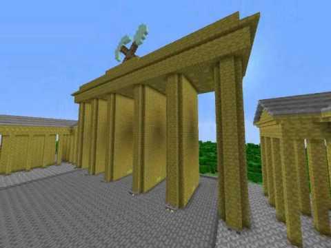 [Minecraft] Brandenburger Tor Und Pariser Platz In Berlin + Download!