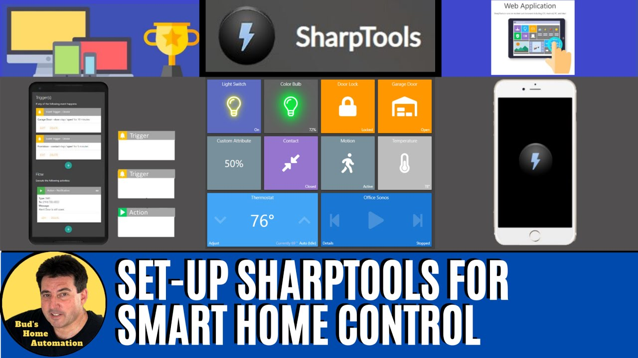 How to Setup SharpTools to Automate, Monitor & Control SmartThings Devices