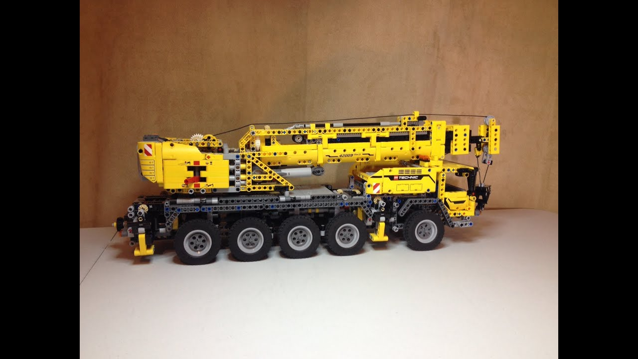 Lego technic mobile crane mk ii with power functions set 42009 review youtube