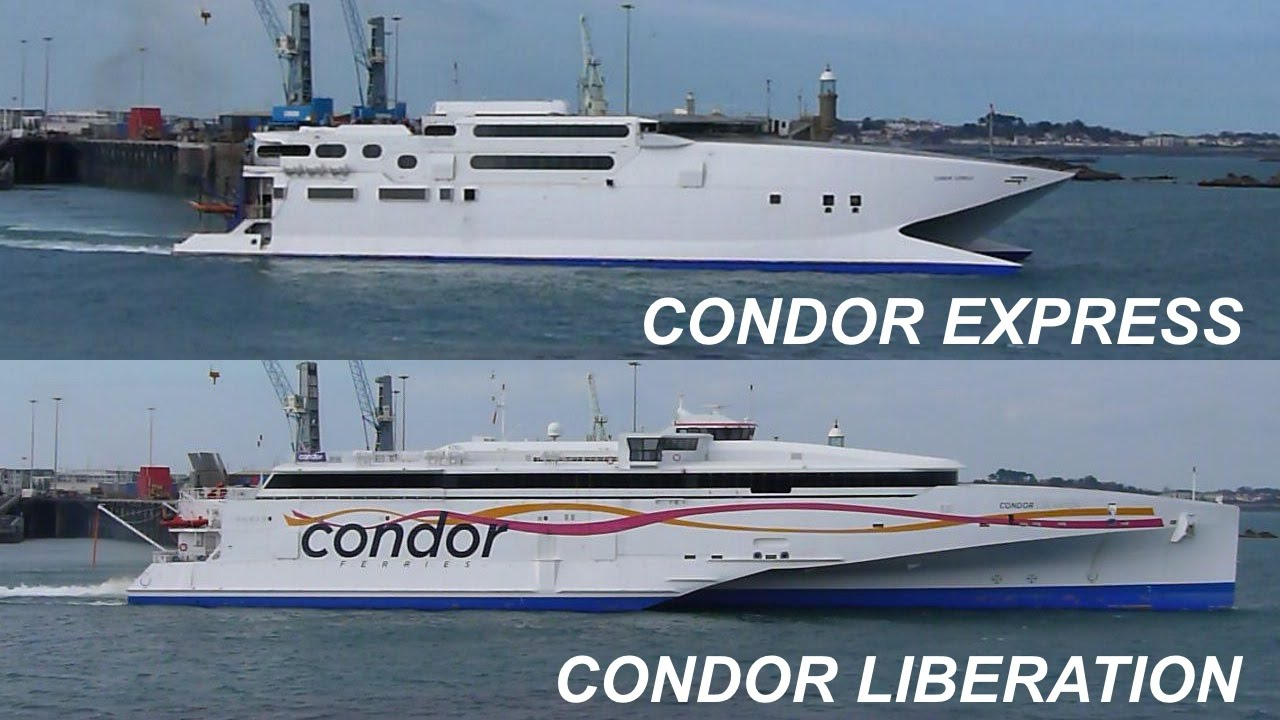 Condor Express And Condor Liberation Leave Guernsey One