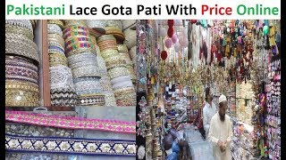 Pakistani Lace Gota Pati With Price || New Designer LACE EMBROIDERY || Cliff Shopping Mall