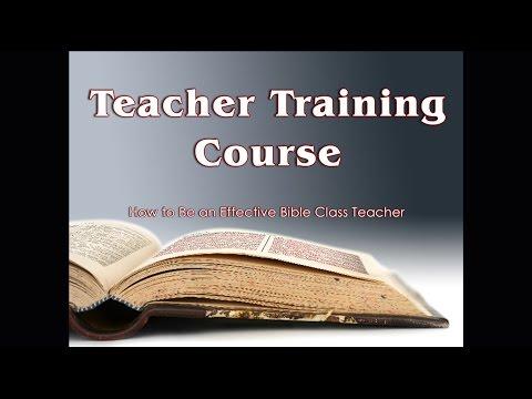 How to Be an Effective Bible Class Teacher