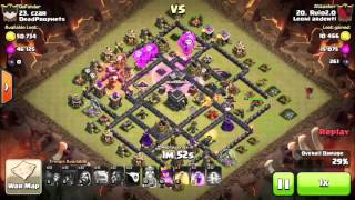 """Clan war against """" DeadProphets """" 3 stars⭐️⭐️⭐️ to th9 