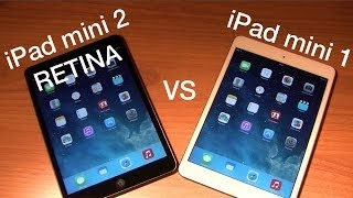 iPad mini 1 VS iPad mini 2 avec écran RETINA | rapidité, écran, jeux, caractéristique, etc