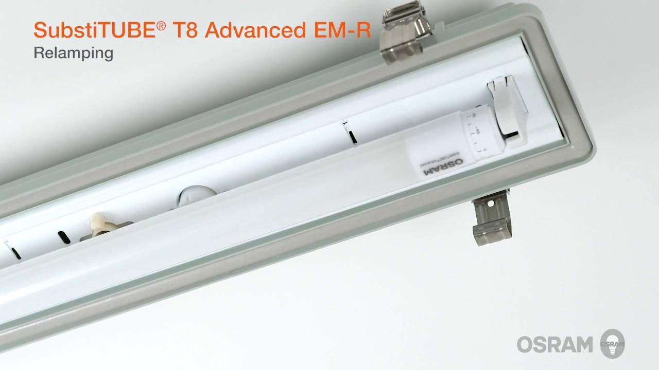 Installation guide for OSRAM SubstiTUBE T8 LED tubes  YouTube