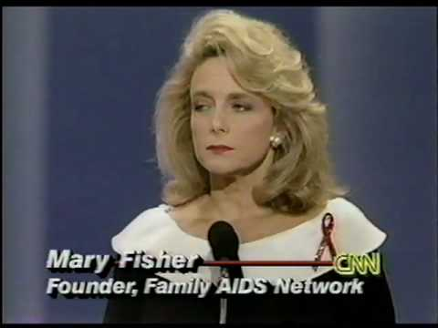 mary fisher s speech whisper of aids When it is pointed out that mary fisher's message seems to be that it makes no difference how one gets aids and that everyone is at risk, sen nickles responds: well, i think she helps point out.