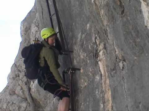 Klettersteig Priel : Klettersteig bert rinesch gross priel youtube