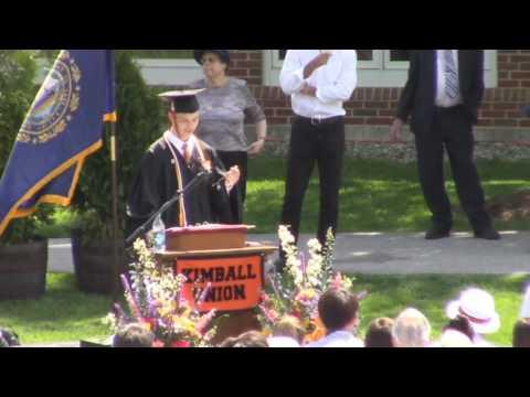 Kimball Union Academy Valedictorian Speech 2016 Ethan Kable