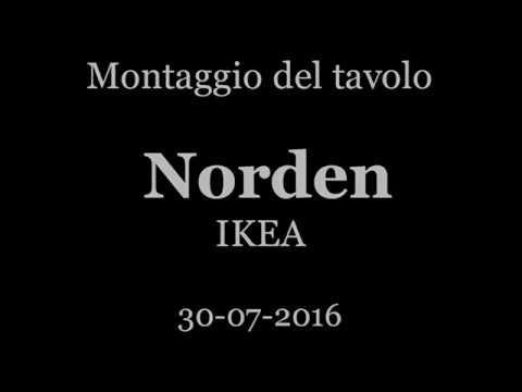 Ikea Tavolo Consolle Allungabile.Montaggio Norden Ikea Youtube