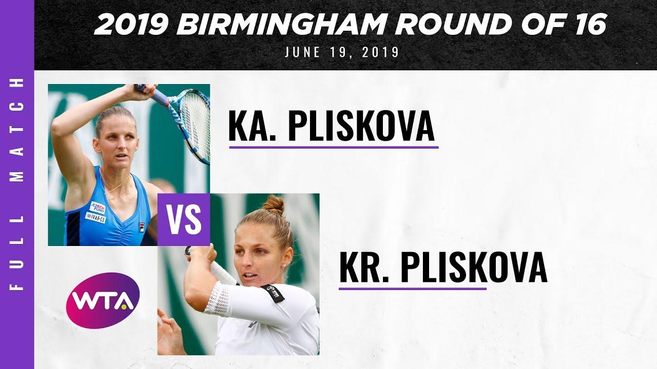 Karolina Pliskova vs. Kristyna Pliskova | Full Match | 2019 Birmingham Round of 16