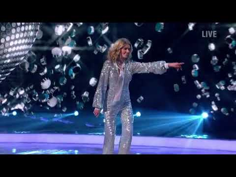 Donna Air and Mark Hanretty skating in Dancing on Ice (Disco Week) (21/1/18)