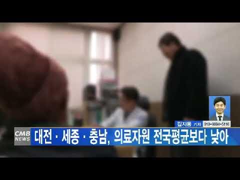 [대전뉴스] 대전·세종·충남, 의료자원 전국평균보다 낮아