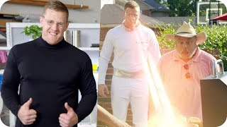 J.J. Watt Reveals His Super Robot... The J.J. Bot (Feat. Arnold Schwarzenegger) // Omaze