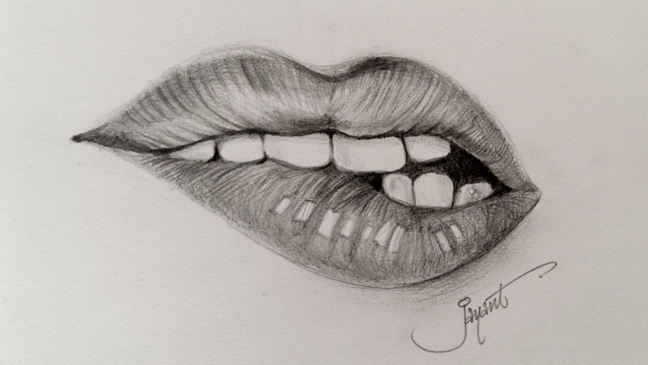 How to draw realistic Kylie Jenner Lips | Pencil Sketching ...