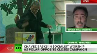 Polar opposites: Will Chavez worship beat Capriles promises?