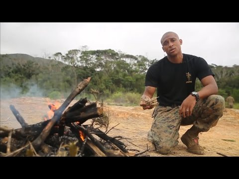 Starting A Fire ... Like A Marine
