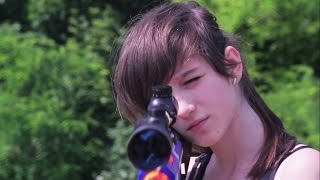 NERF WARS LIVE ACTION : BROTHER VS SISTER THE HIDDEN SNIPER RIFLE
