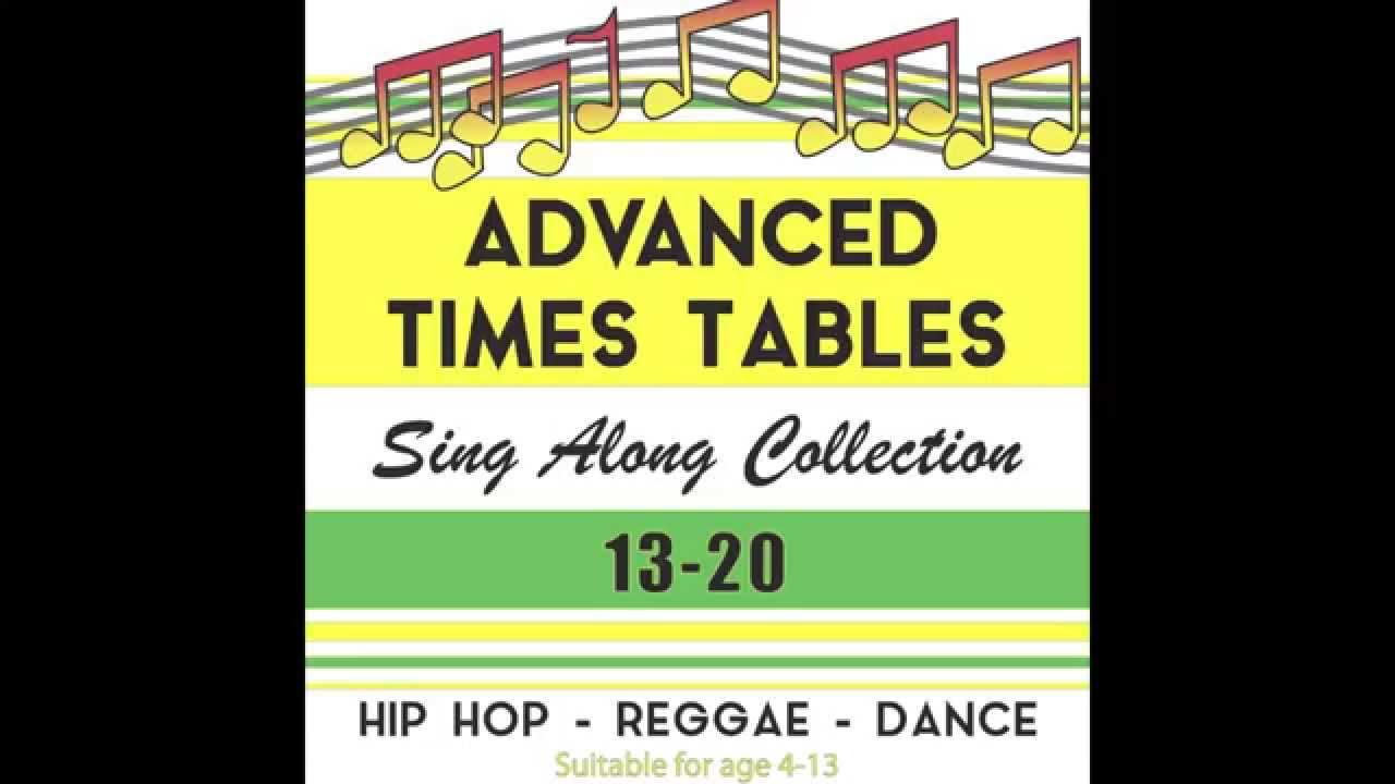 worksheet 13 Times Table advanced 13 to 20 times tables sing along collection by annie arithmetic