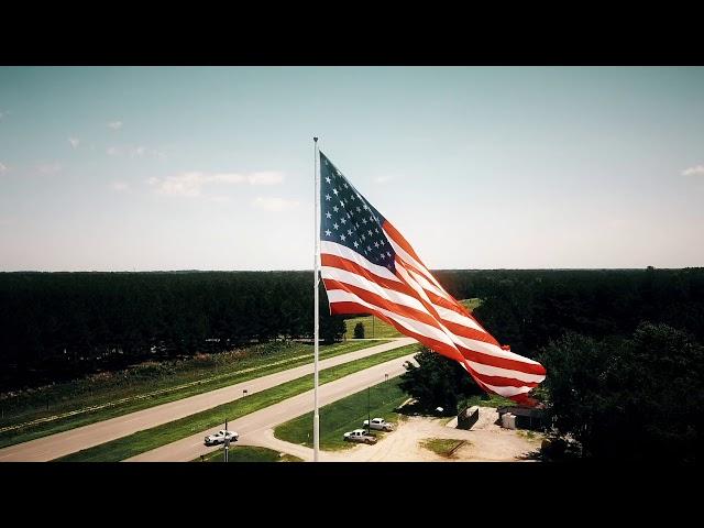 American Flag Drone Shot